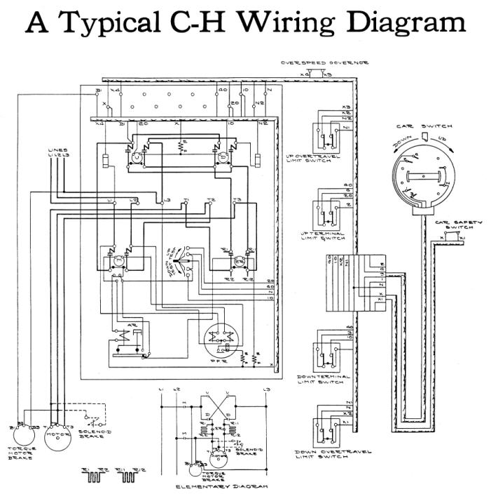elevatorbob s elevator pictures car switch continuous pressure car switch continuous pressure operation image 43 a typical cutler hammer car switch elementary wiring diagram