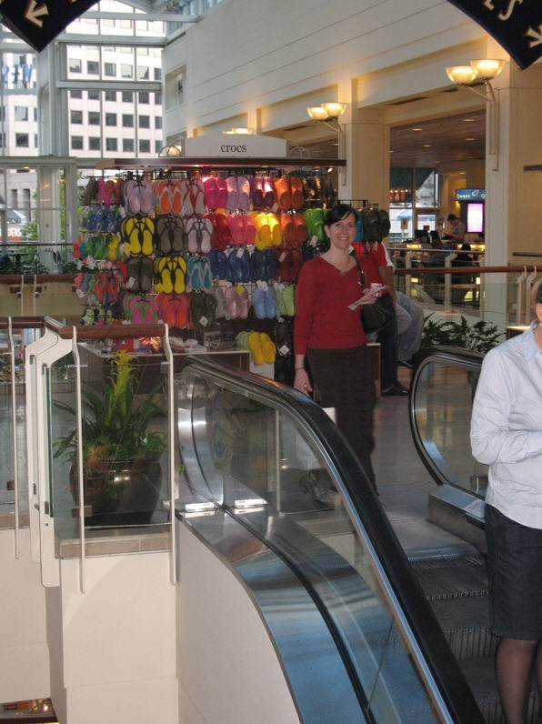 Escalator vs. Shoe